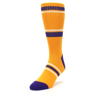 Image of Los Angeles Lakers Men's Athletic Crew Socks (side-2-front-07)