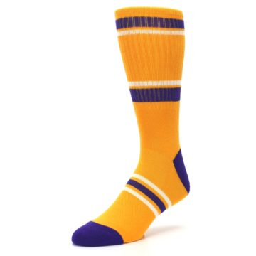 Image of Los Angeles Lakers Men's Athletic Crew Socks (side-2-front-08)