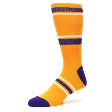 Image of Los Angeles Lakers Men's Athletic Crew Socks (side-2-09)
