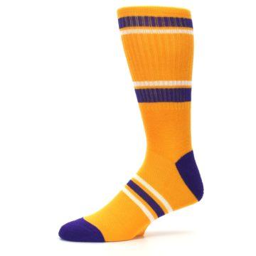 Image of Los Angeles Lakers Men's Athletic Crew Socks (side-2-10)