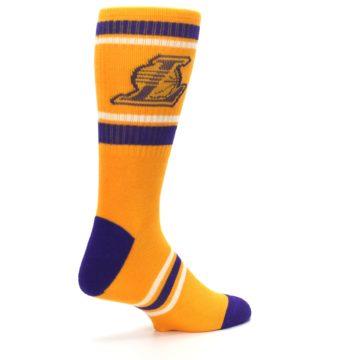 Image of Los Angeles Lakers Men's Athletic Crew Socks (side-1-back-22)