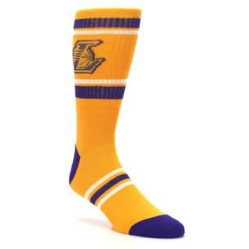 Image of Los Angeles Lakers Men's Athletic Crew Socks (side-1-27)