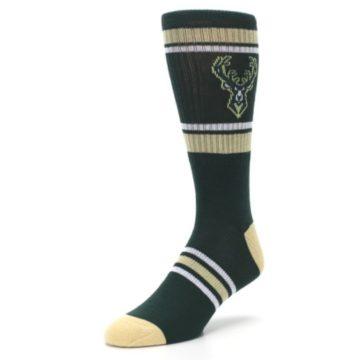 Image of Milwaukee Bucks Men's Athletic Crew Socks (side-2-front-08)
