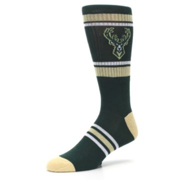Image of Milwaukee Bucks Men's Athletic Crew Socks (side-2-09)