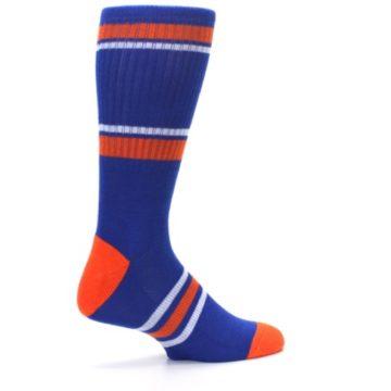Image of New York Knicks Men's Athletic Crew Socks (side-1-23)