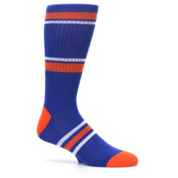 Image of New York Knicks Men's Athletic Crew Socks (side-1-25)