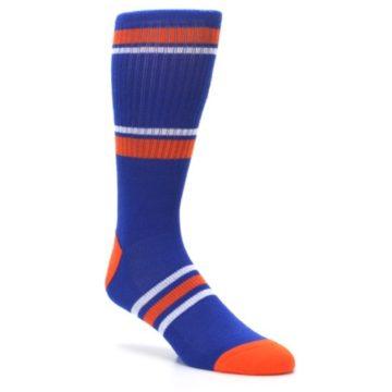 Image of New York Knicks Men's Athletic Crew Socks (side-1-27)