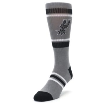 Image of San Antonio Spurs Men's Athletic Crew Socks (side-2-front-07)