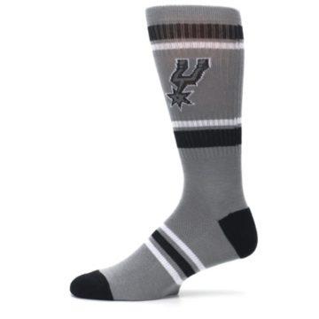 Image of San Antonio Spurs Men's Athletic Crew Socks (side-2-11)