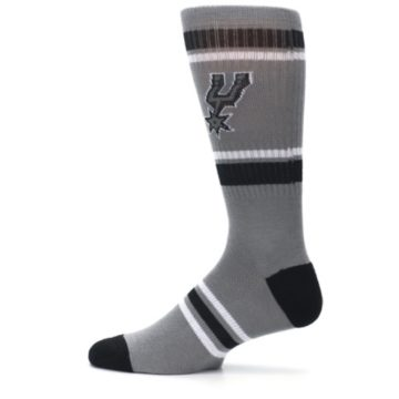 Image of San Antonio Spurs Men's Athletic Crew Socks (side-2-12)