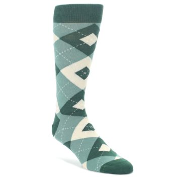 Emerald-Green-Argyle-Mens-Dress-Socks-Statement-Sockwear