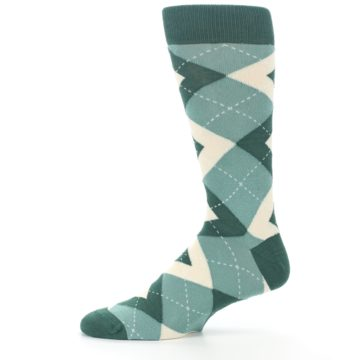 Image of Emerald Green Argyle Men's Dress Socks (side-2-11)