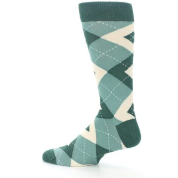 Image of Emerald Green Argyle Men's Dress Socks (side-2-13)