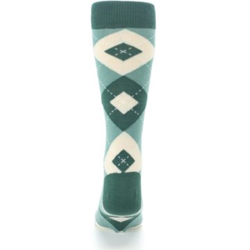 Image of Emerald Green Argyle Men's Dress Socks (back-18)