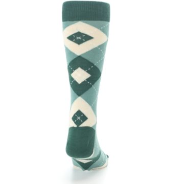 Image of Emerald Green Argyle Men's Dress Socks (back-19)
