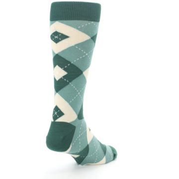 Image of Emerald Green Argyle Men's Dress Socks (side-1-back-21)