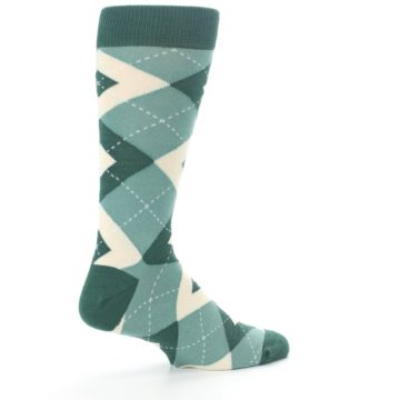 Image of Emerald Green Argyle Men's Dress Socks (side-1-23)