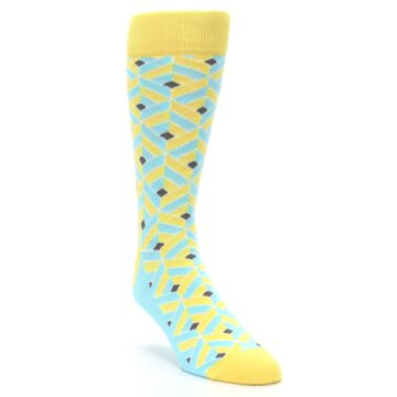 Image of Yellow Blue Box Optical Men's Dress Socks (side-1-front-02)