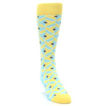 Image of Yellow Blue Box Optical Men's Dress Socks (side-1-front-03)
