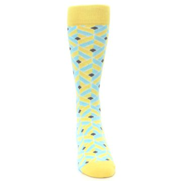 Image of Yellow Blue Box Optical Men's Dress Socks (front-04)