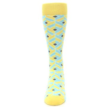 Image of Yellow Blue Box Optical Men's Dress Socks (front-05)