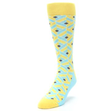 Image of Yellow Blue Box Optical Men's Dress Socks (side-2-front-07)