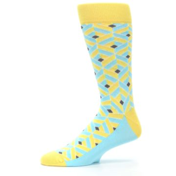 Image of Yellow Blue Box Optical Men's Dress Socks (side-2-11)