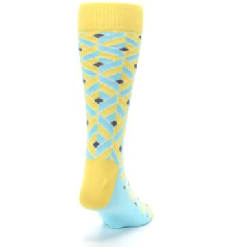 Image of Yellow Blue Box Optical Men's Dress Socks (side-1-back-20)