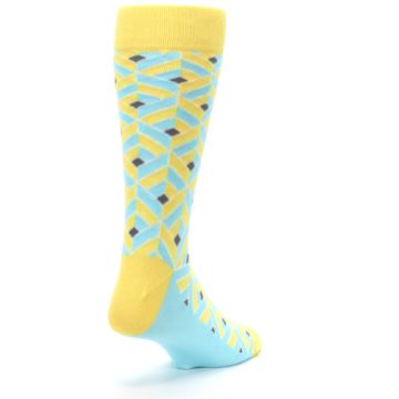 Image of Yellow Blue Box Optical Men's Dress Socks (side-1-back-21)