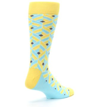 Image of Yellow Blue Box Optical Men's Dress Socks (side-1-back-22)