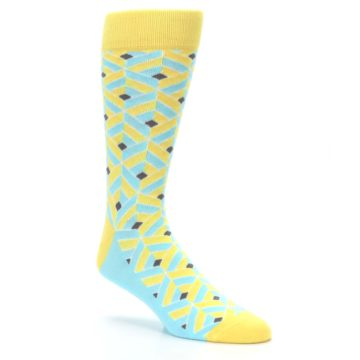 Image of Yellow Blue Box Optical Men's Dress Socks (side-1-27)
