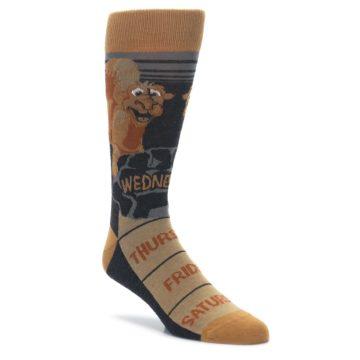 Image of Brown Camel Hump Day Wednesday Men's Dress Socks (side-1-front-01)