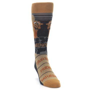 Image of Brown Camel Hump Day Wednesday Men's Dress Socks (side-1-front-03)
