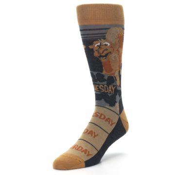 Image of Brown Camel Hump Day Wednesday Men's Dress Socks (side-2-front-08)