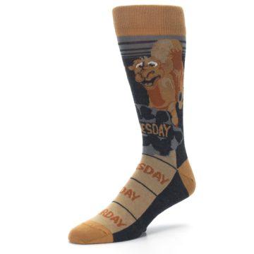 Image of Brown Camel Hump Day Wednesday Men's Dress Socks (side-2-09)