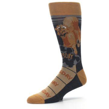 Image of Brown Camel Hump Day Wednesday Men's Dress Socks (side-2-10)