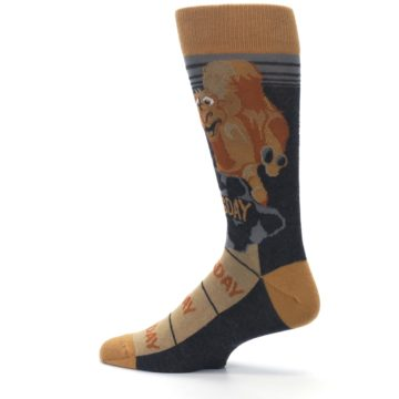 Image of Brown Camel Hump Day Wednesday Men's Dress Socks (side-2-13)