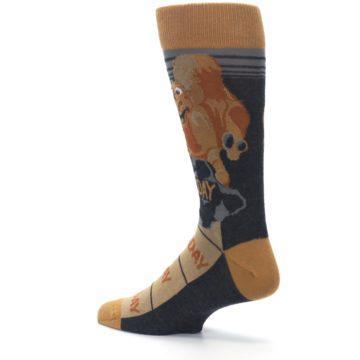 Image of Brown Camel Hump Day Wednesday Men's Dress Socks (side-2-back-14)