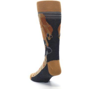 Image of Brown Camel Hump Day Wednesday Men's Dress Socks (side-2-back-16)