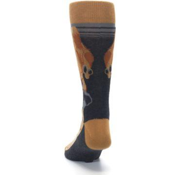 Image of Brown Camel Hump Day Wednesday Men's Dress Socks (back-17)