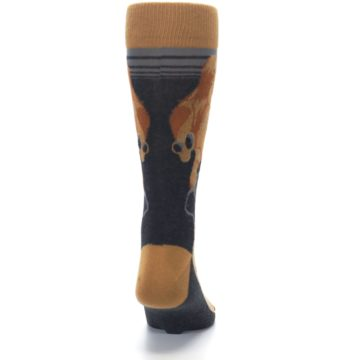 Image of Brown Camel Hump Day Wednesday Men's Dress Socks (back-19)
