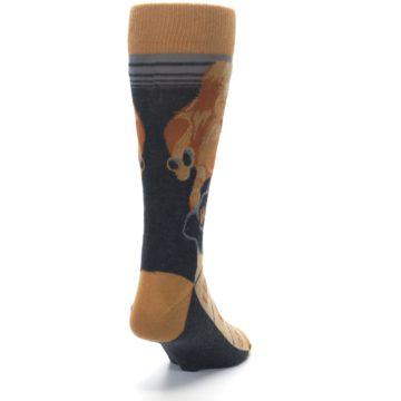 Image of Brown Camel Hump Day Wednesday Men's Dress Socks (side-1-back-20)