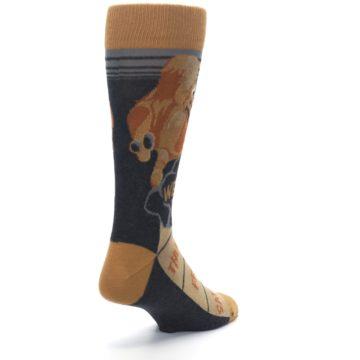 Image of Brown Camel Hump Day Wednesday Men's Dress Socks (side-1-back-21)