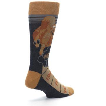 Image of Brown Camel Hump Day Wednesday Men's Dress Socks (side-1-back-22)