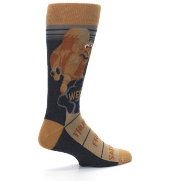 Image of Brown Camel Hump Day Wednesday Men's Dress Socks (side-1-23)