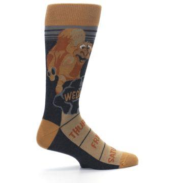 Image of Brown Camel Hump Day Wednesday Men's Dress Socks (side-1-24)