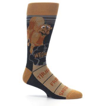 Image of Brown Camel Hump Day Wednesday Men's Dress Socks (side-1-25)