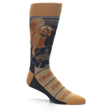 Image of Brown Camel Hump Day Wednesday Men's Dress Socks (side-1-26)