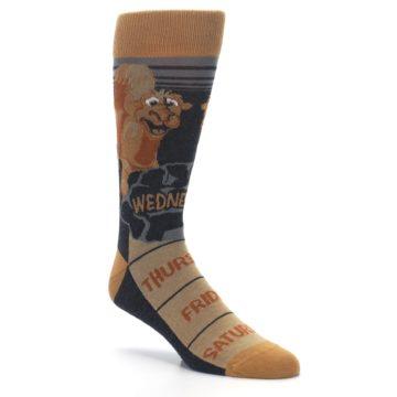 Image of Brown Camel Hump Day Wednesday Men's Dress Socks (side-1-27)