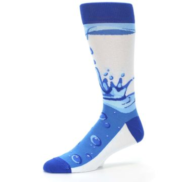 Image of Blue Water Droplet Men's Dress Socks (side-2-10)